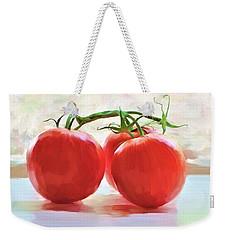 Tomato Gossip Weekender Tote Bag