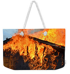 Weekender Tote Bag featuring the photograph Too Hot by Carl Young