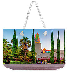 Weekender Tote Bag featuring the photograph Tower Cafe Dusk- by JD Mims