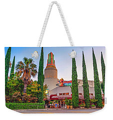 Weekender Tote Bag featuring the photograph Tower Cafe Sunset- by JD Mims