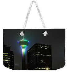 Weekender Tote Bag featuring the photograph Tower Glow by Brad Allen Fine Art