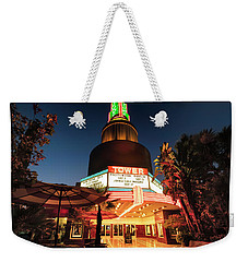 Weekender Tote Bag featuring the photograph Tower Theater- by JD Mims