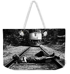 Weekender Tote Bag featuring the photograph Tracks by Phil Koch