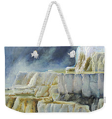 Travertine Terraces - Mammoth Hot Springs, Yellowstone National Park Weekender Tote Bag