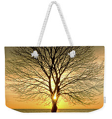 Weekender Tote Bag featuring the photograph Tree Framed Sunrise New Hampshire by Nathan Bush