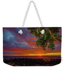 Tree  Sea And Sun Weekender Tote Bag
