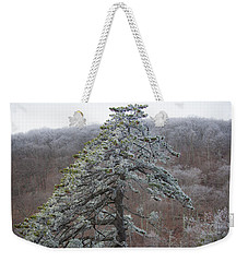 Tree With Hoarfrost Weekender Tote Bag