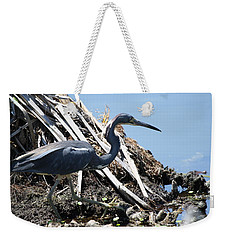 Weekender Tote Bag featuring the photograph Tri-colored Heron 40312 by Rick Veldman