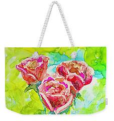Trio Of Roses Weekender Tote Bag