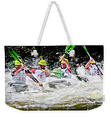 Triple Crown Kayak Race Weekender Tote Bag