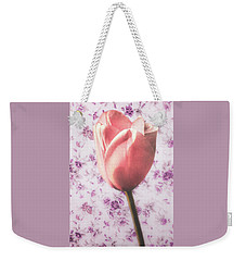 Weekender Tote Bag featuring the photograph Tulip Contrasted by Michael Arend