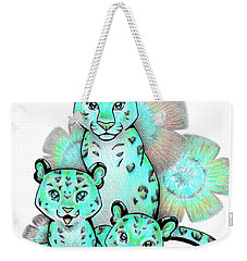 Turquoise Leopards Weekender Tote Bag