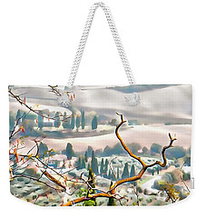 Weekender Tote Bag featuring the photograph Tuscan Autumn Landscape by Dorothy Berry-Lound
