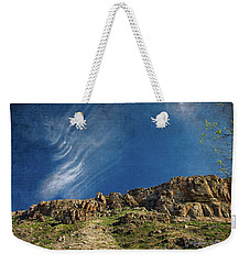 Weekender Tote Bag featuring the digital art Tuscon Clouds by Christopher Meade