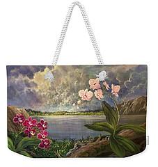 Twilight Orchids Weekender Tote Bag