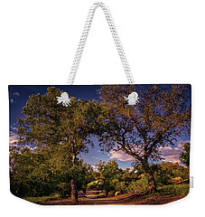 Two Old Oak Trees At Sunset Weekender Tote Bag