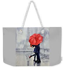 Under A Red Umbrella Weekender Tote Bag