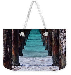 Weekender Tote Bag featuring the photograph Under The Pier #3 Opf by Stuart Manning
