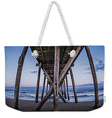 Weekender Tote Bag featuring the photograph Under The Pier by Steve Stanger