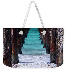 Weekender Tote Bag featuring the photograph Under The Pier by Stuart Manning