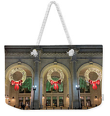 Union Station Holiday Weekender Tote Bag