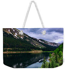 Weekender Tote Bag featuring the photograph Urad Lake by Dan Miller
