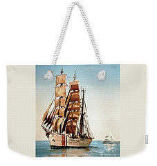 Us Coastguard Tall Ship Weekender Tote Bag