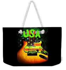 Usa Strat Guitar Music Green Theme Weekender Tote Bag