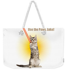 Weekender Tote Bag featuring the photograph Use The Paws, Luke by Warren Photographic