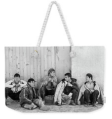 Weekender Tote Bag featuring the photograph Uzbek Day Laborers by SR Green