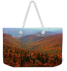 Weekender Tote Bag featuring the photograph Valley Below Mount Greylock by Raymond Salani III