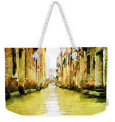 Venetian Canal Weekender Tote Bag