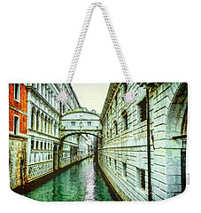 Weekender Tote Bag featuring the photograph Venice Bridge Of Sighs by Kay Brewer