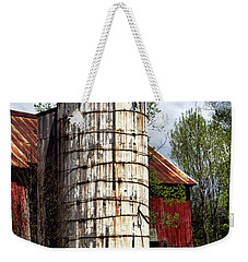 Weekender Tote Bag featuring the photograph Vermont Farmhouse Silo  by Betty Pauwels