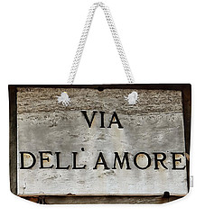 Weekender Tote Bag featuring the photograph Via Dell'amore by Dorothy Berry-Lound