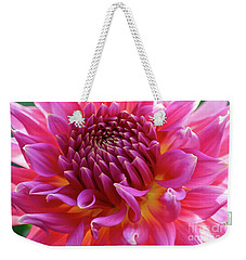 Vibrant Dahlia Weekender Tote Bag