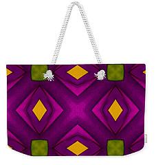 Vibrant Geometric Design Weekender Tote Bag