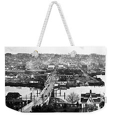 Weekender Tote Bag featuring the photograph View East Over Olympia 1921 by Merle Junk