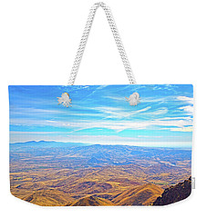 Weekender Tote Bag featuring the photograph View From Squaw Butte, Id by Dart and Suze Humeston