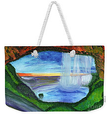 View From The Cave To The Waterfall Weekender Tote Bag