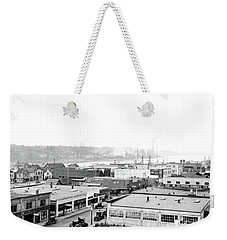 Weekender Tote Bag featuring the photograph View Nw Over Olympia From Elks Building On Capitol Way 1929 by Vibert Jeffers