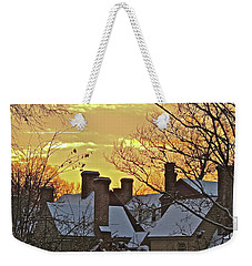 Weekender Tote Bag featuring the photograph Village Morning by Don Moore