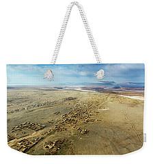 Weekender Tote Bag featuring the photograph Village Toward Amu Darya River by SR Green