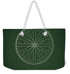 Weekender Tote Bag featuring the drawing Vintage Bicycle Tire Patent by Dan Sproul