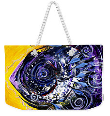Violet Tri Fish Weekender Tote Bag