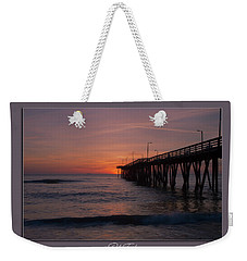 Weekender Tote Bag featuring the photograph Virginia Beach Sunrise by Pete Federico
