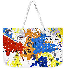 Weekender Tote Bag featuring the painting Vulnerability  by Rene Capone