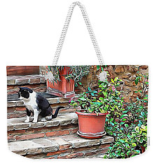 Weekender Tote Bag featuring the photograph Waiting For Mom by Dorothy Berry-Lound