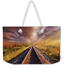 Weekender Tote Bag featuring the photograph Walk The Line by Phil Koch