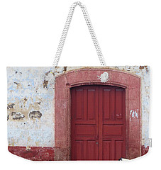 Weekender Tote Bag featuring the photograph Walking By In Patzcuaro by Rosanne Licciardi